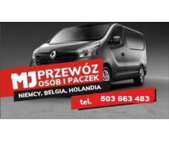 przewóz osób i paczek Belgia-Holandia-Niemcy-Polska-Podkarpacie